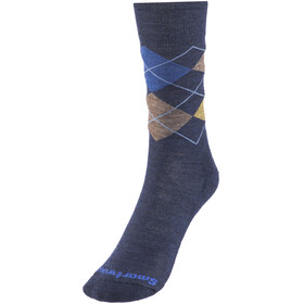 Smartwool Diamond Jim Crew Socks Men Deep Navy Heather-Desert Sand Heather